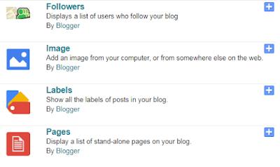 blogger label gadget