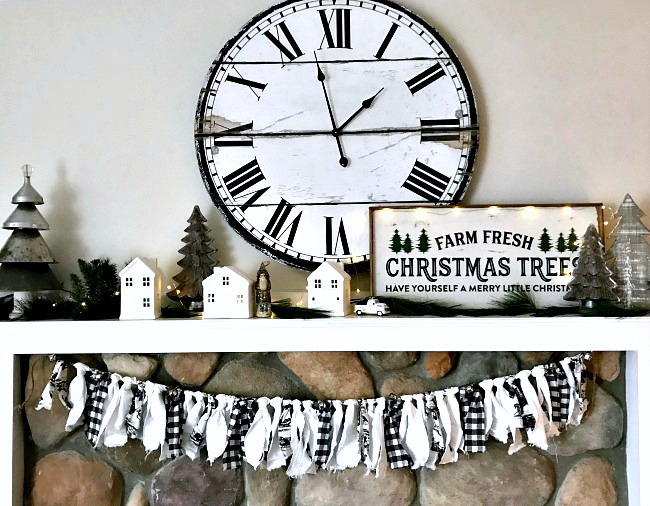 How to Make Buffalo Check and Toile Rag Garland