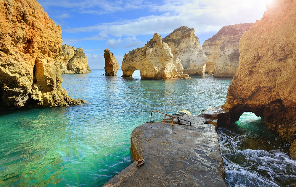 #9. Algarve, Portugal is the southernmost region of mainland Portugal. - 12 Places To Swim With The Clearest, Bluest Waters. #2 Wow!