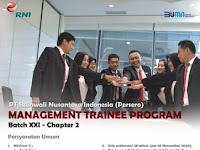 INFO LOWONGAN BUMN : MANAGEMENT TRAINEE PT RAJAWALI NUSANTARA INDONESIA (PERSERO) CHAPTER 2