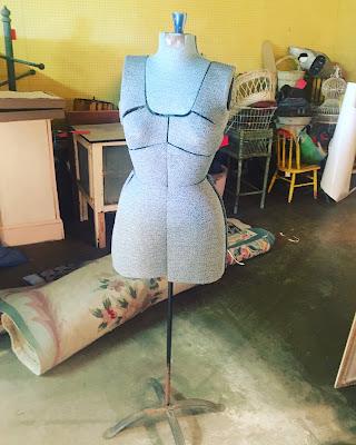 vintage adjustable mannequin torso