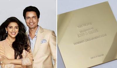 Asin-Rahul wedding card