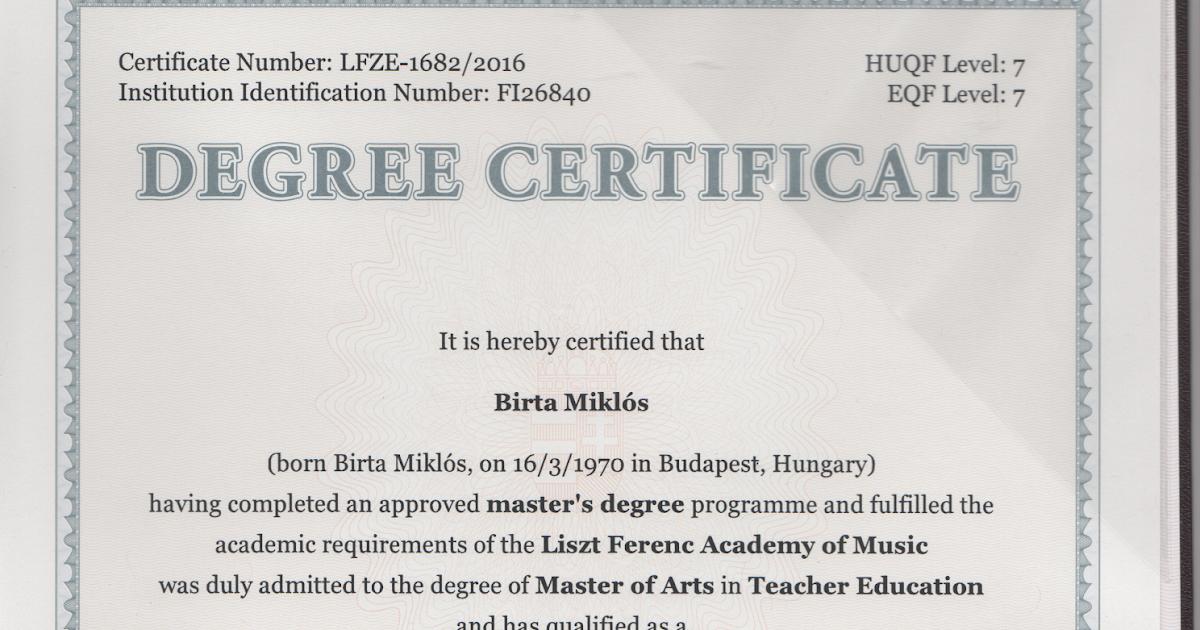 master degree certificate - Boat.jeremyeaton.co
