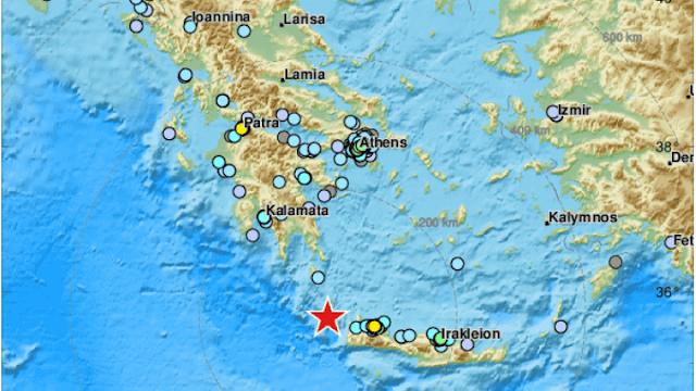 6,1 Ριχτερ νότια των Κυθήρων ταρακούνησε την μισή Ελλάδα