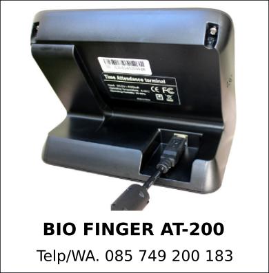 Agen Resmi Mesin Absensi Bio Finger AT-200