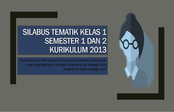 Silabus Tematik Kelas 1 Semester 1 dan 2 Kurikulum 2013