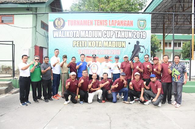 Dandim 0803/Madiun : Turnamen Tenis Walikota Madiun Cup ini Dapat Memacu Semangat Olahraga Masyarakat