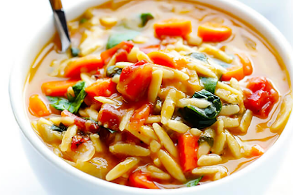 Italian Orzo Spinach Soup