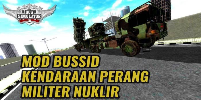 mod bussid kendaraan perang militer