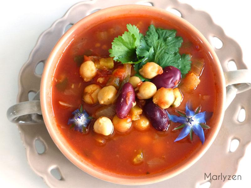Soupe de pois chiches à la marocaine