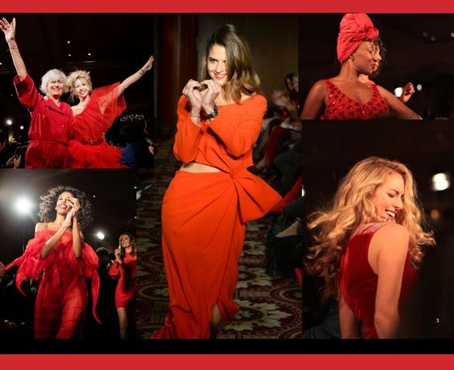 Red Défilé des femmes d'influence pour l'association Sauvez le Coeur des Femmes
