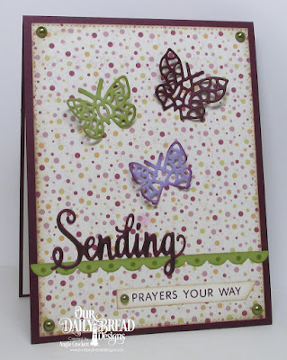 ODBD Sending My Love Stamp/Die Duos, ODBD Rustic Beauty Paper Collection, ODBD Custom Bitty Butterflies, ODBD Custom Bitty Borders, ODBD Custom Pierced Rectangles Dies, Card Designer Angie Crockett