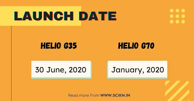 Launch date of Mediatek Helio G70 and Helio G35