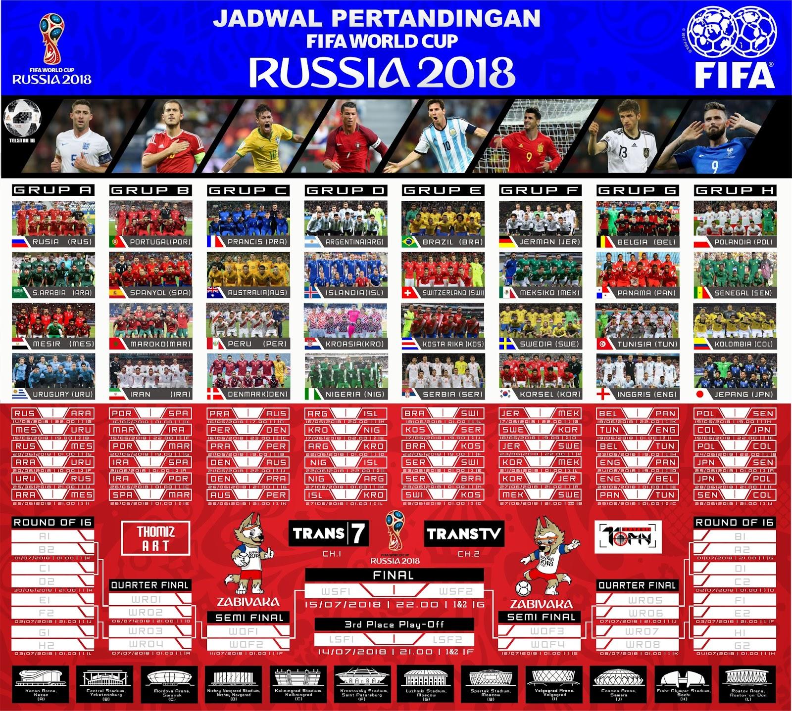 Image Result For Jadwal Piala Dunia Wib