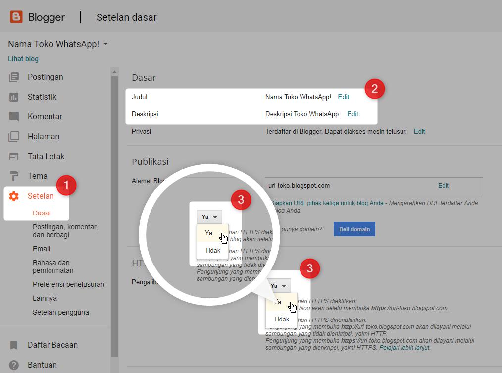 Dokumentasi : TOKO WhatsApp - Premium Blogger Template - Penyedia Template Website SEO Friendly - Indonesia