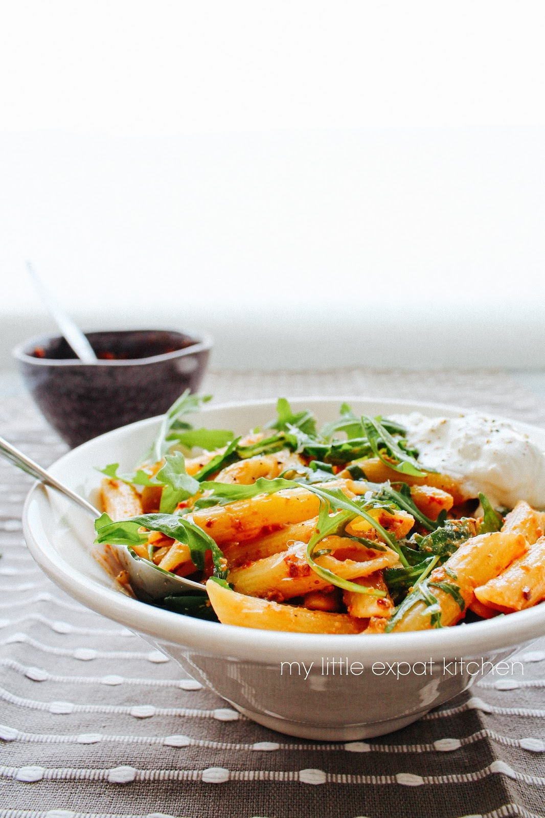 My Little Expat Kitchen: Penne with sun-dried tomato, red chilli and ...