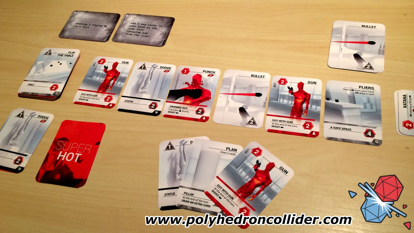Superhot the card game card set up