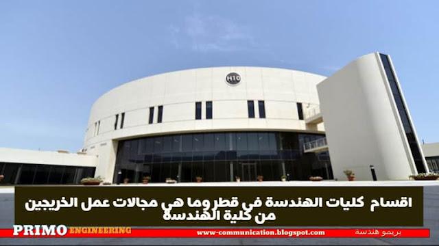 اقسام  كليات الهندسة فى قطر وما هي مجالات عمل الخريجين من كلية الهندسة - بريمو هندسة