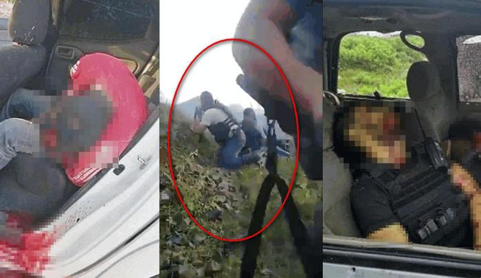 """Así se vivió fuerte pelotera entre sicarios de """"El Abuelo"""" y el CJNG, hasta ahora 8 abatidos y 14 heridos en Tepalcatepec, Michoacan"""