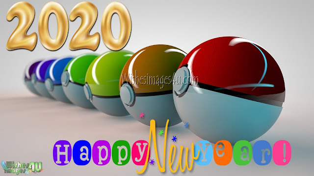 Happy New Year 2020 3D Pictures
