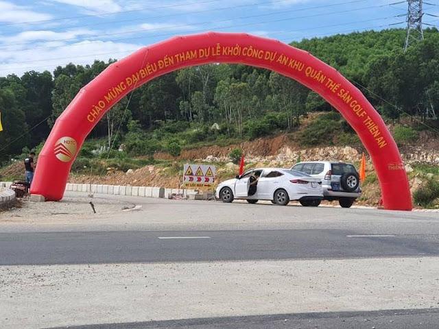Đưa tin lễ khởi công chui dự án Dự án quần thể sân golf Thiên An, một phóng viên bị dằn mặt