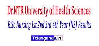 NTRUHS B.Sc Nursing 1st 2nd 3rd 4th Year (NS) Results 2017