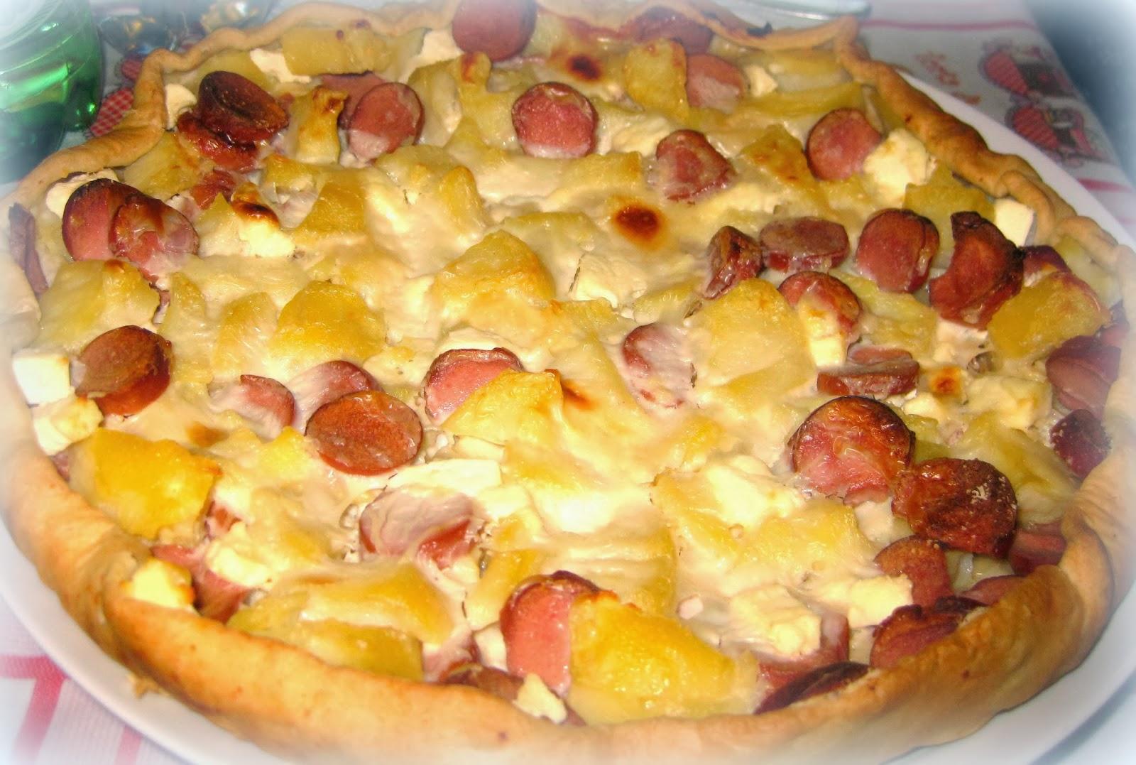 Ricetta Patate Wurstel E Mozzarella.Torta Salata Con Wurstel E Patate Cotto E Postato