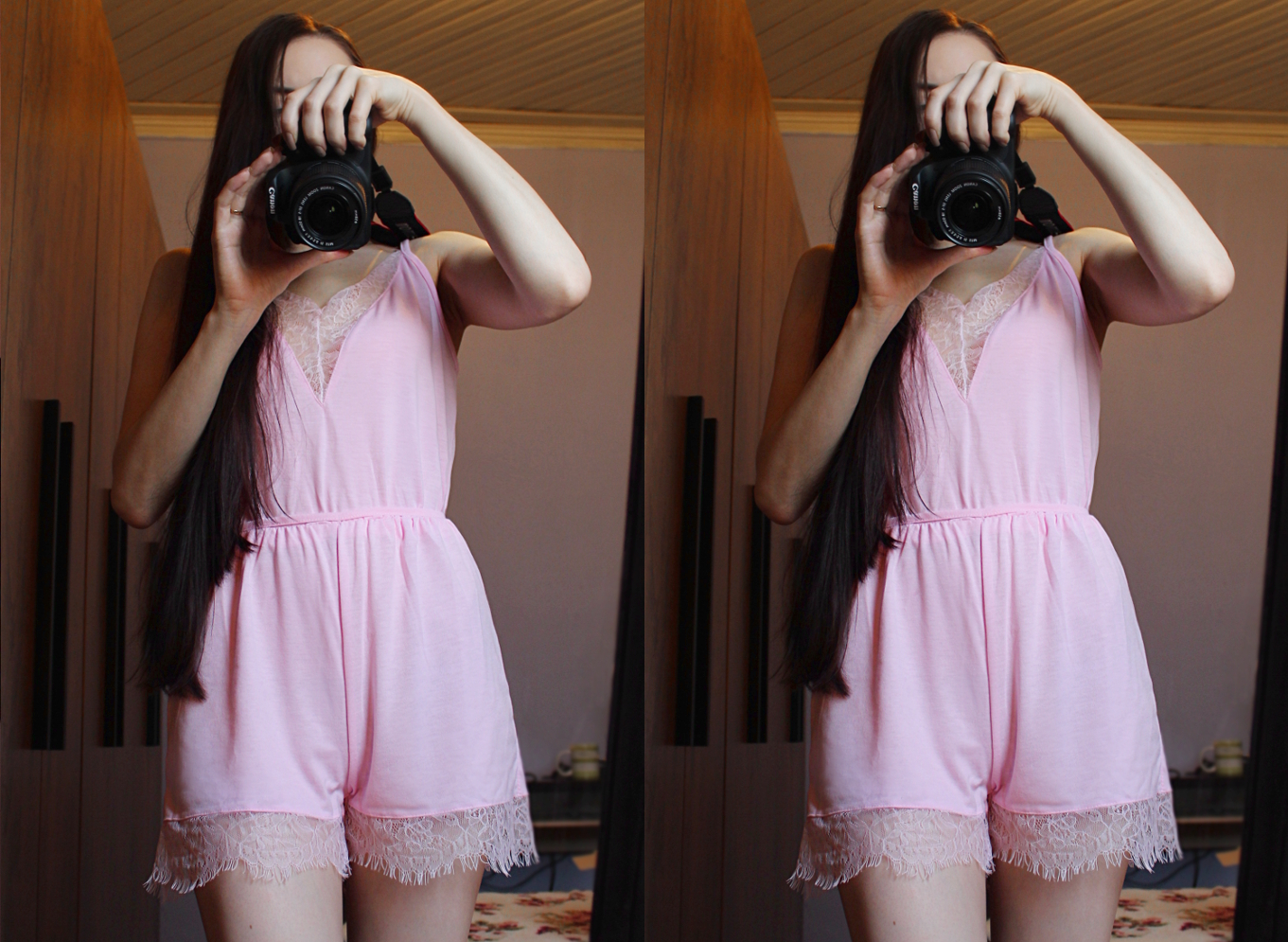 cute, marshmallow pink jumpsuit