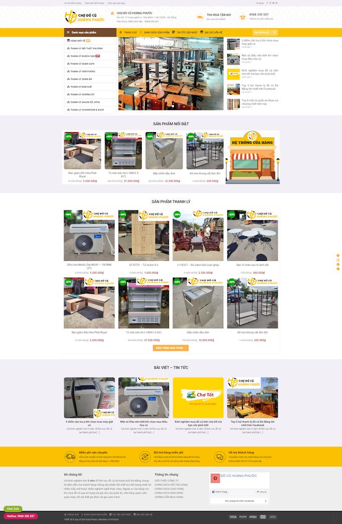 Mẫu website về mua bán đồ cũ