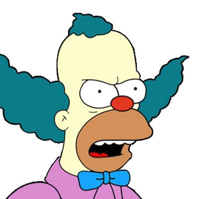 Los Simpson Personaje Krusty el payaso