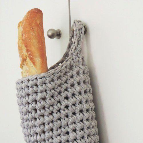 Bolsa del pan de crochet