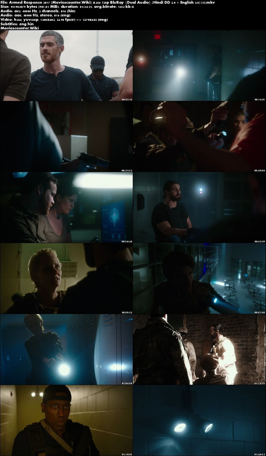 Screen Shots Armed Response 2017 Dual Audio HD 720p
