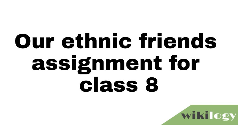 Our ethnic friends (2)- assignment for class 8