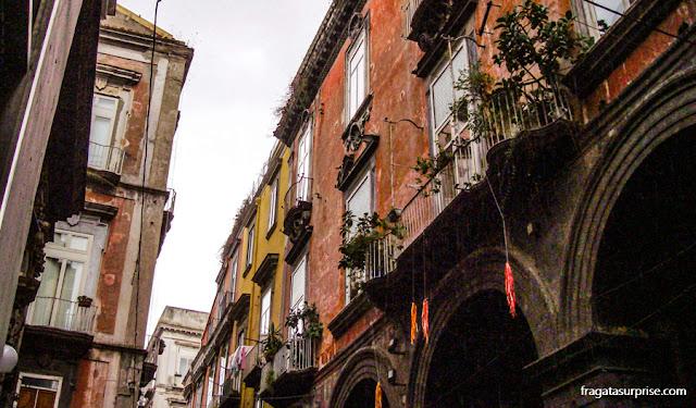 Casarões dos Quartieri Spagnoli, em Nápoles