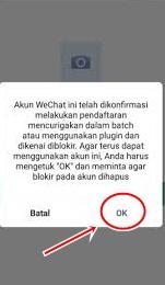 memulihkan akun wechat yang diblokir