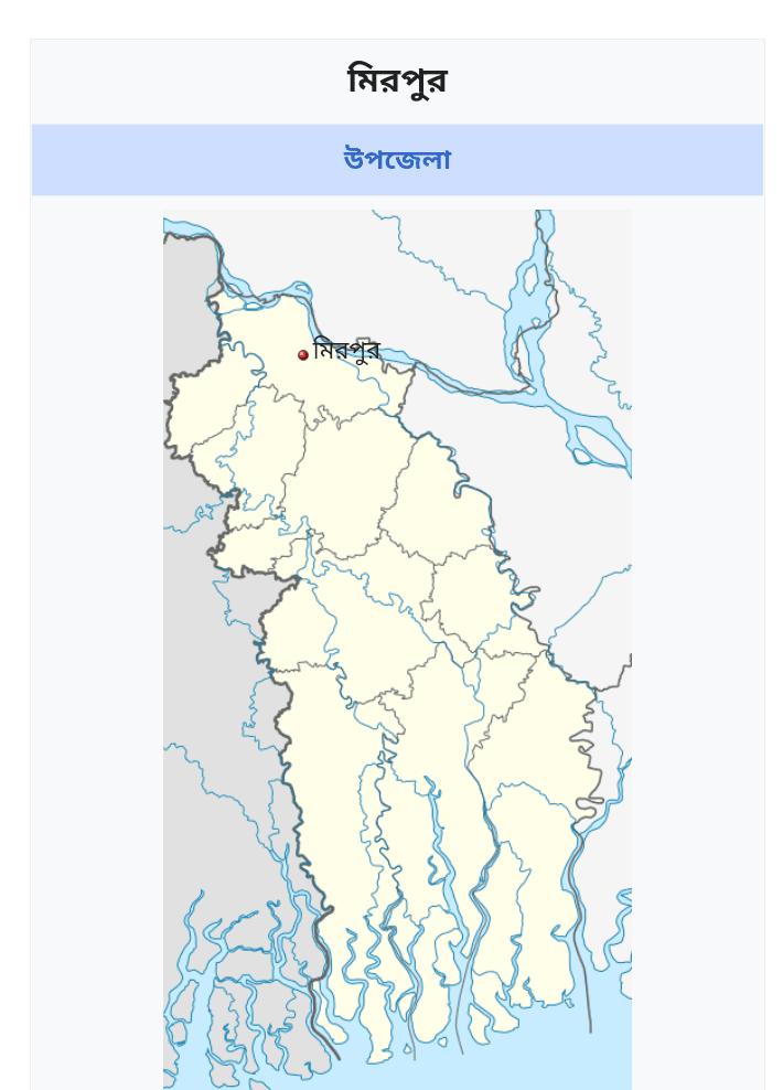 মিরপুর উপজেলা কুষ্টিয়া