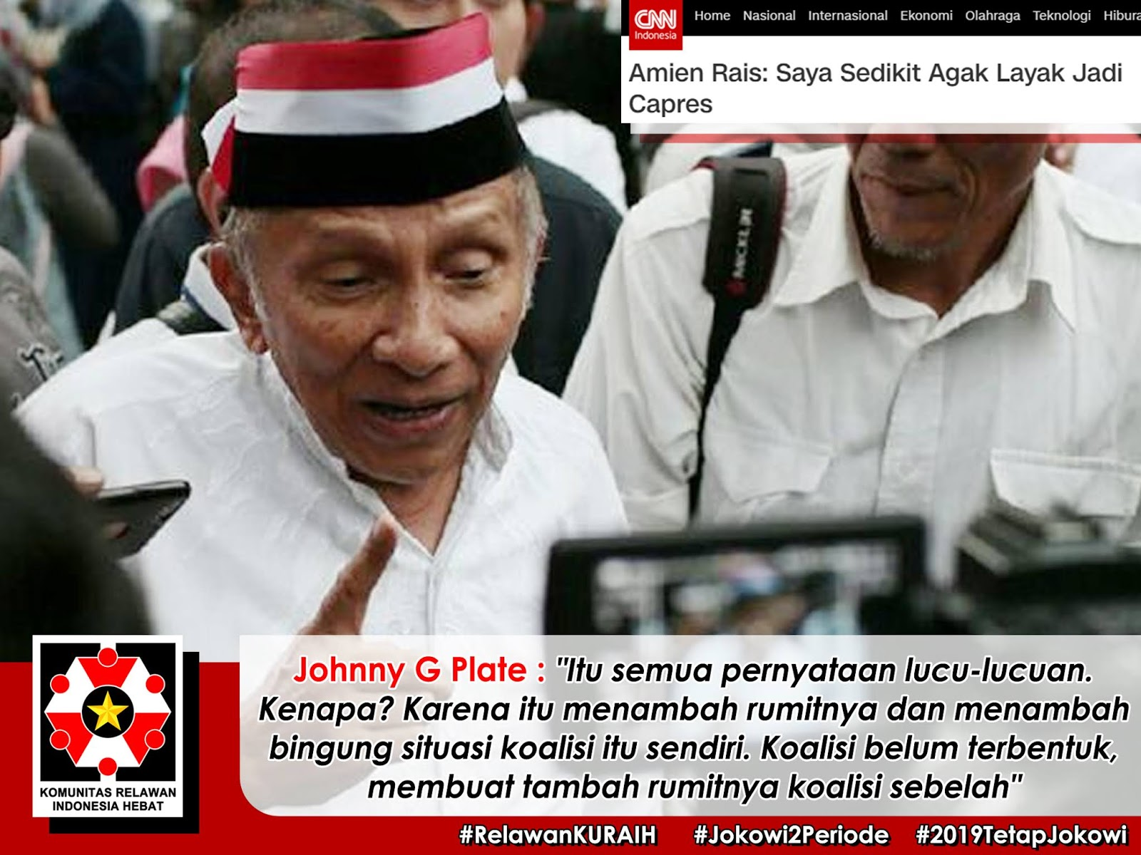 Amien Rais Si Tua Yang Bernafsu Jadi Capres Penantang Jokowi