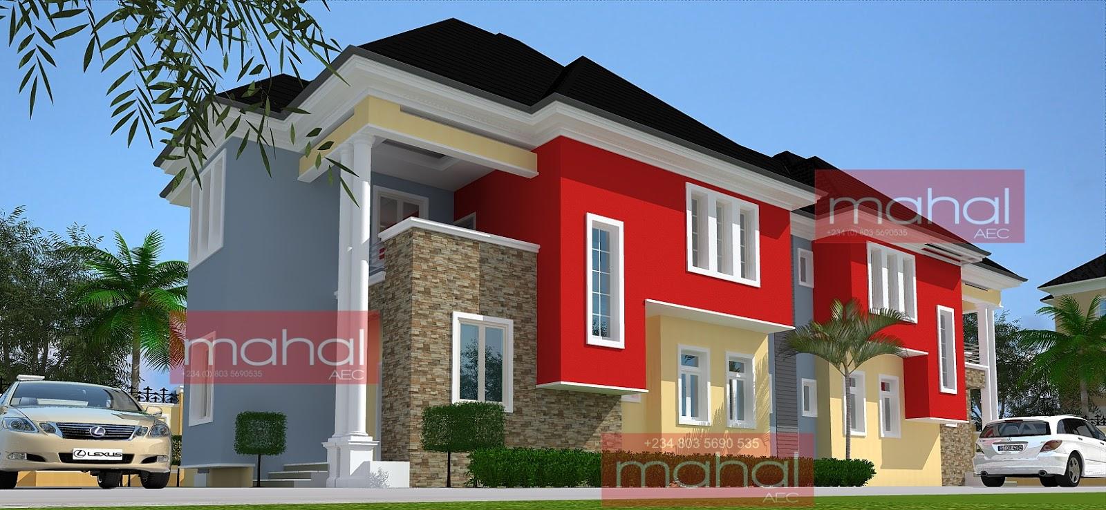 Contemporary nigerian residential architecture p uwa for Nigerian architectural designs duplex