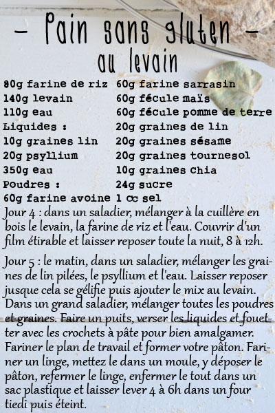 recette pain sans gluten au levain blog spoonencore
