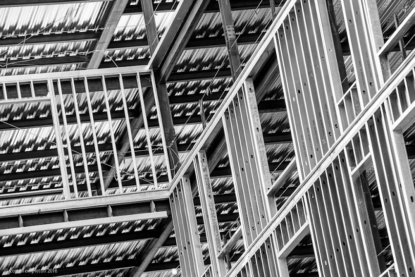Some abstract angles at the construction site at 667 Congress Street, near Longfellow Square.