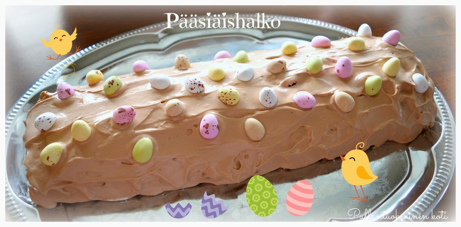 #pääsiäishalko #kääretorttu #leivonnainen #baking #easterroll #eastercake #easterbaking #easter #chocolatecake