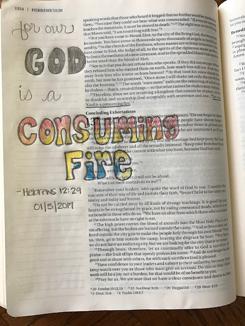 Bible Journaling: Hebrews 12:29