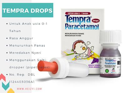 Tempra Drops Untuk Anak Usia 0-1 Tahun (Safti-dropper/ Pipas Tetes)