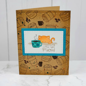 I need more coffee right meow by Vanessa features Newton Loves Coffee by Newton's Nook Designs; #inkypaws, #newtonsnook, #catcards, #coffeelovers, #coffeecards