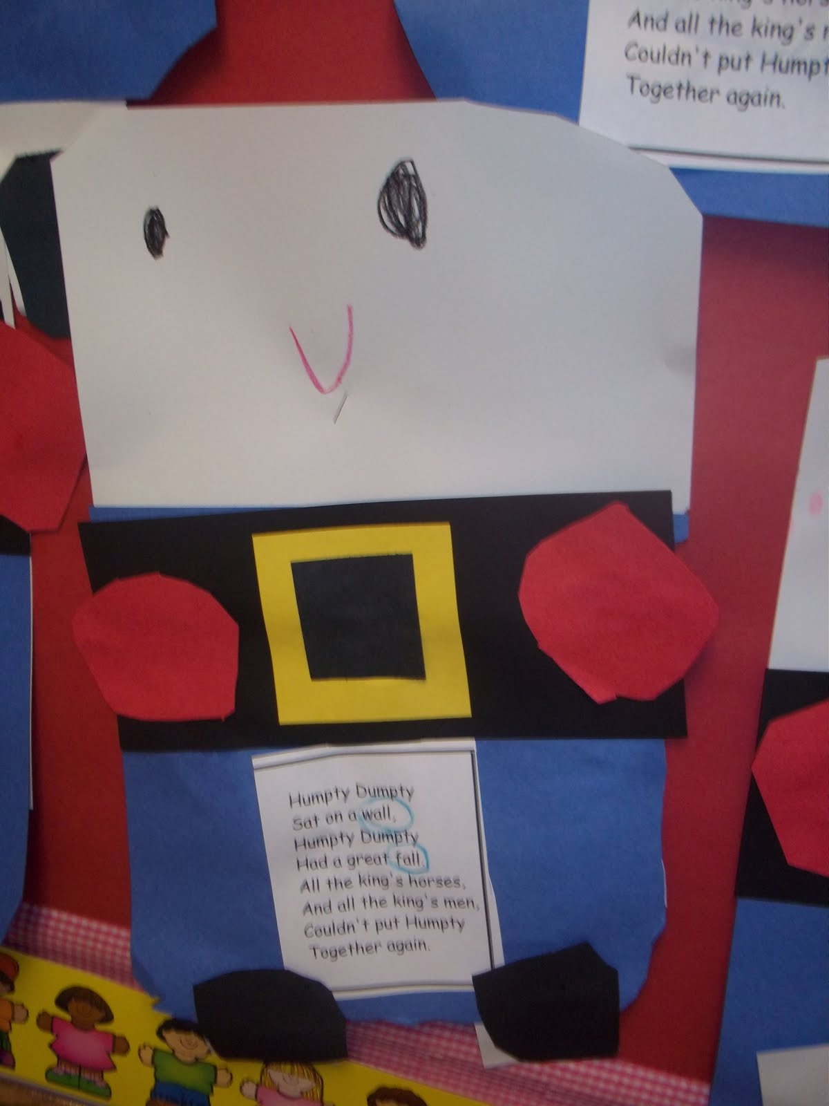 Mrs Wood S Kindergarten Class Humpty Dumpty