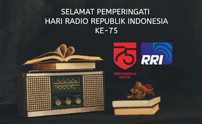 gambar ucapan  hari radio republik indonesia ke 75