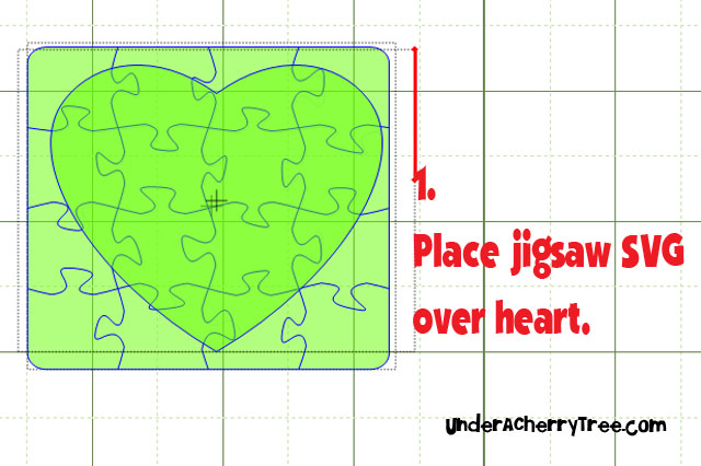 Under A Cherry Tree: How to make a Jigsaw Heart (using MTC