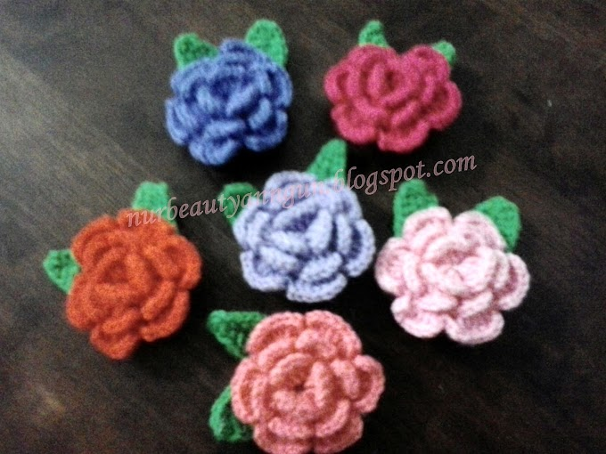 Brooch Bunga Rose...... assorted colour