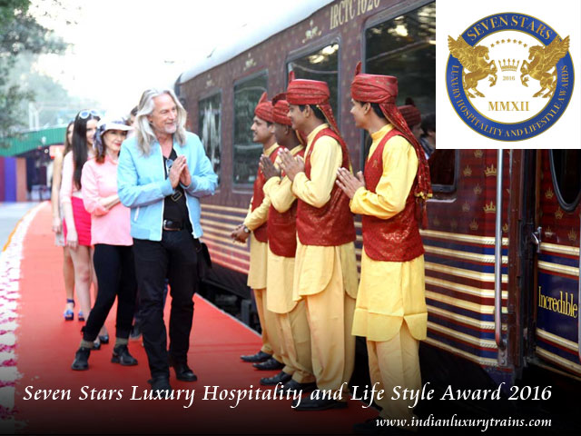 Maharajas' Express becomes the two-time winner of 'Seven Star Luxury Award'