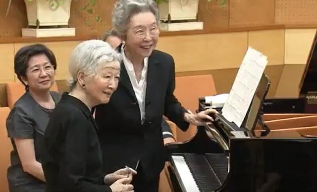 Empress Michiko and the late world-famous Keiko Toyama were longtime friends